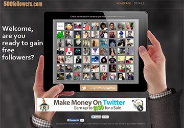 500followers Twitter Takipçi Uygulaması